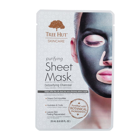 TREE HUT SKINCARE FACIAL SHEET MASK DETOXIFYING CHARCOAL