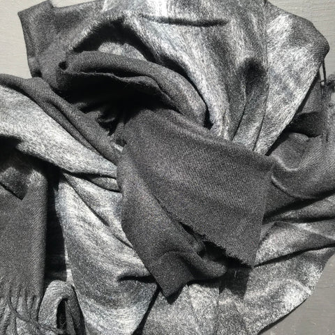 cashmere shawl- charcoal