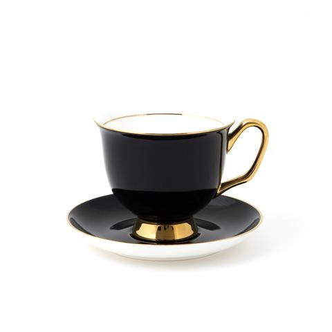XL Cup and Saucer- Black