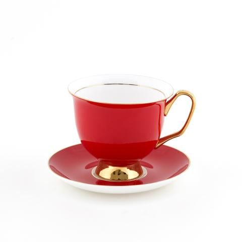 XL Cup and Saucer- Red