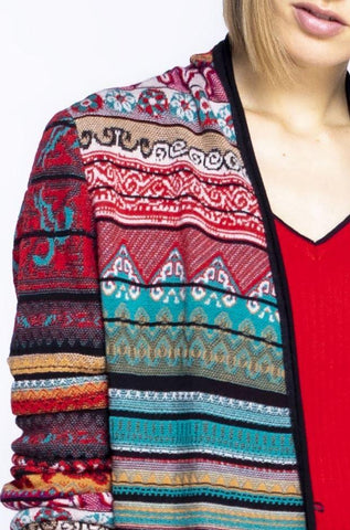 Ivko cardigan embroidered back