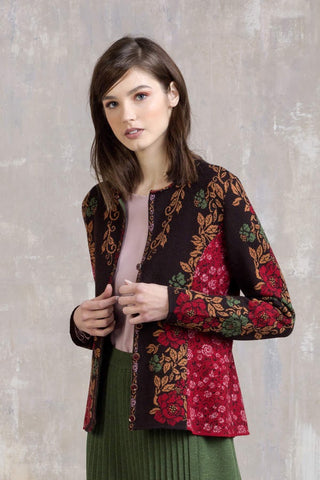 Pleated jacquard jacket
