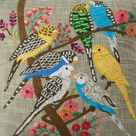 Budgerigar cushion