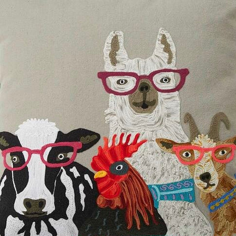 Farmyard animals cushion