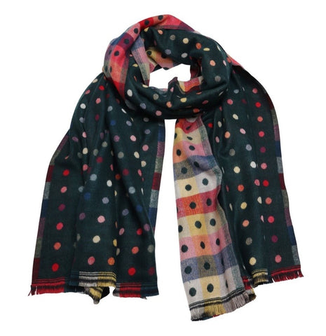 She's Dotty scarf- forest