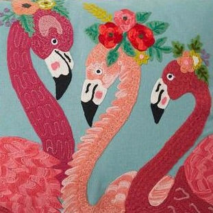 Flamingo fiesta cushion