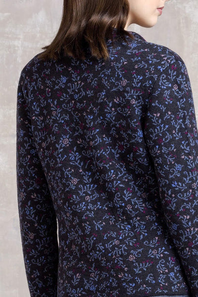 Jacquard jacket with collar