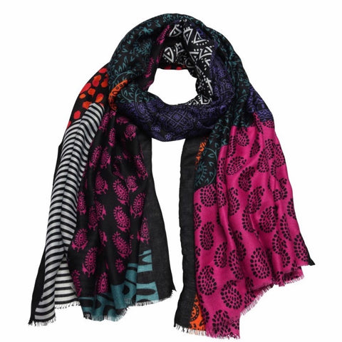 Black Holly goes to India scarf