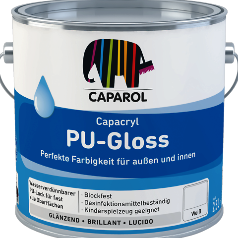 Caparol Pu-Gloss for Wood & Metal Interior & Exterior (Waterbased)