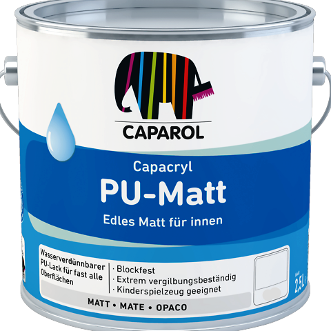 Caparol Pu-Matt for Wood & Metal Interior (Waterbased) Low Sheen Eggshell Finish