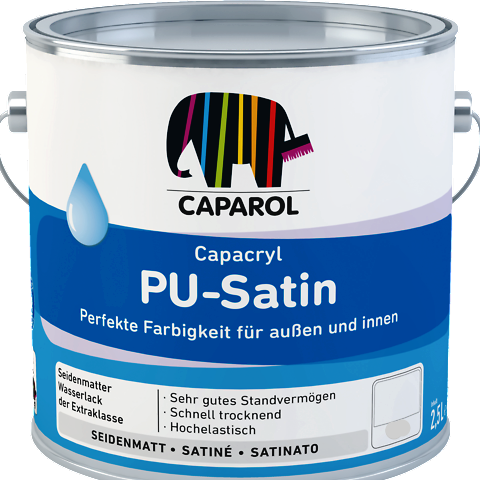 Caparol Pu Satin for Wood & Metal Interior & Exterior (Waterbased) - paintshack