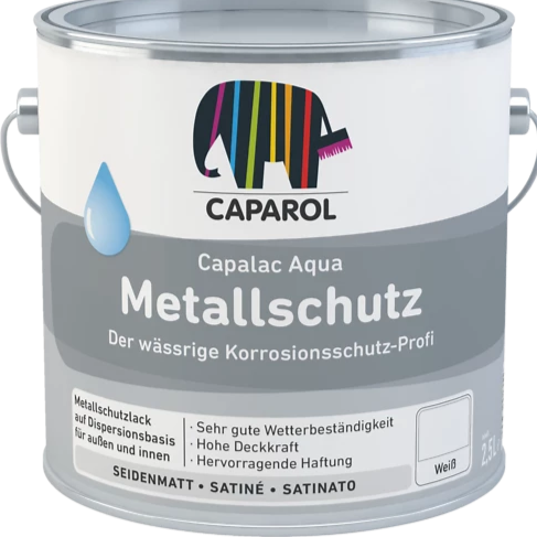 Caparol Metallschutz 750ml (Waterbased Metal Paint) up to 15 Year Protection - paintshack