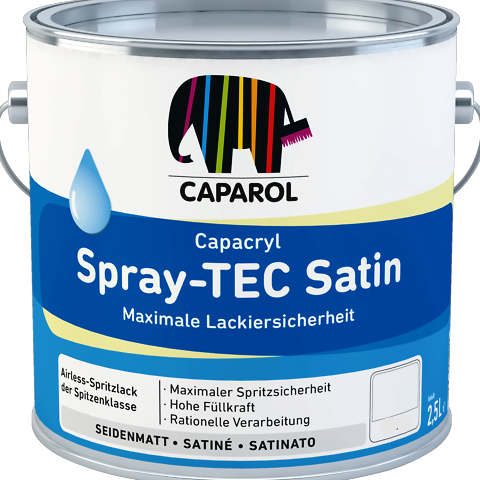 Caparol Spray Tech Satin (Woodwork) High Build Can be applied 2.5 times thicker - paintshack