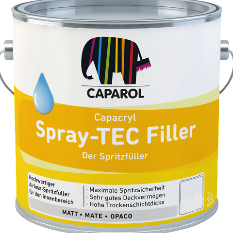 Capacryl Spray-Tec Filler (High Build Coat) Can be applied 4 times thicker than normal coats - paintshack