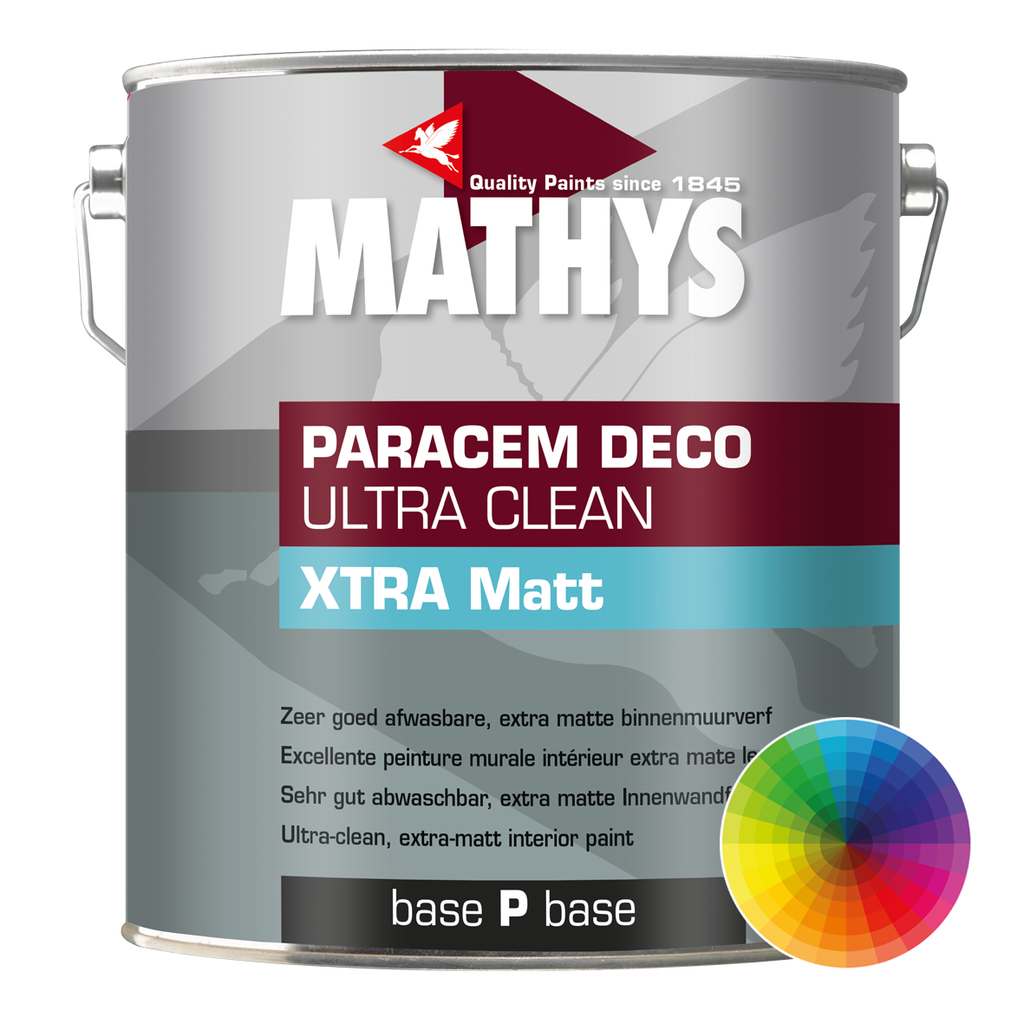 Paintshack Mathys Ultra Clean Extra Matt xtra mat emulsion waterbased walls colours 1lt 4lt 10lt