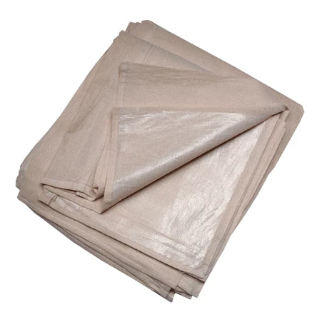 "Poly Backed Cotton Dust Sheets 12""x 9"" (3.6 x 2.7m) - paintshack"