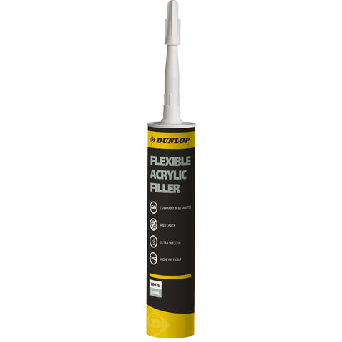 Dunlop Flexible Acrylic filler tube 310ml Brilliant White