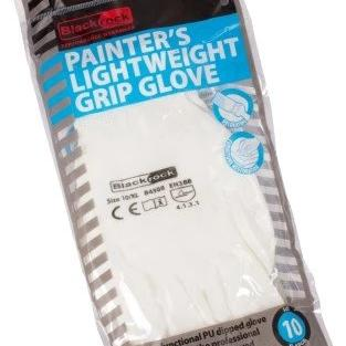 Paintshack Blackrock gloves one size white painters grip gloves