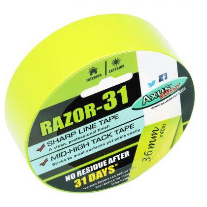 Axus RAZOR 31 Day Interior & Exterior Tape - paintshack