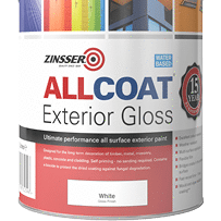 Paintshack Zinsser Allcoat GLoss waterbased interior paint colours