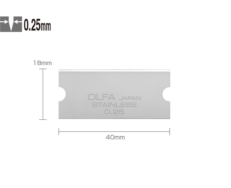 Paintshack OLFA snap off knife blades steel painters decorating wallpaper glass scraper
