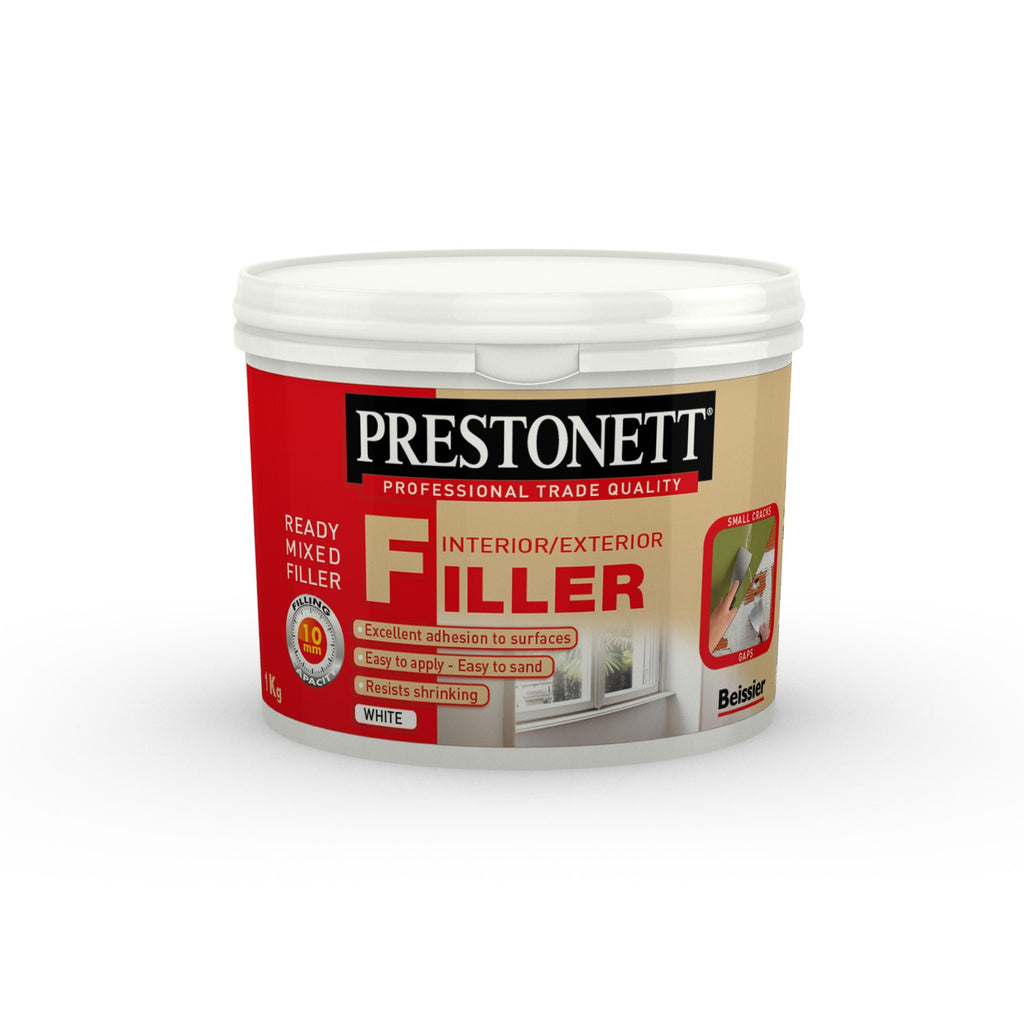 Beissier Prestonett Interior & Exterior Ready mixed filler 1kg White Paintshack