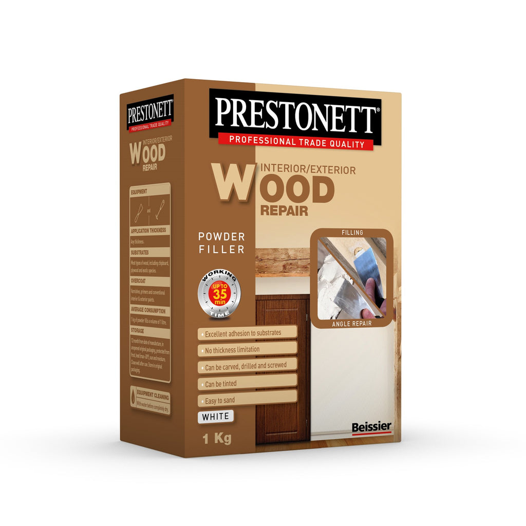 Beissier Prestonett Powder wood Repair White 1kg Paintshack