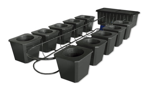 Updated 2017! All New SuperCloset Bubble Flow Buckets Hydroponic System **Now with Free Shipping **