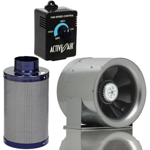 Can 10 Inch Max-Fan with Carbon Filter and Speed Controller Combo