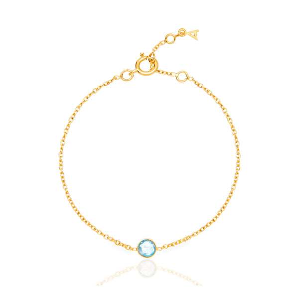 Blue Topaz March Birthstone Bracelet - Auren Jewellery