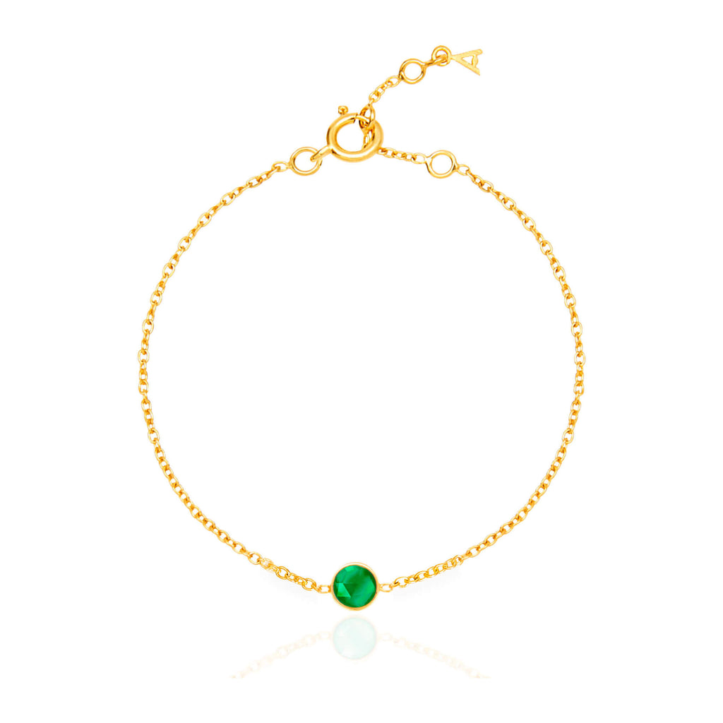 Emerald Quartz May Birthstone Bracelet - Auren Jewellery