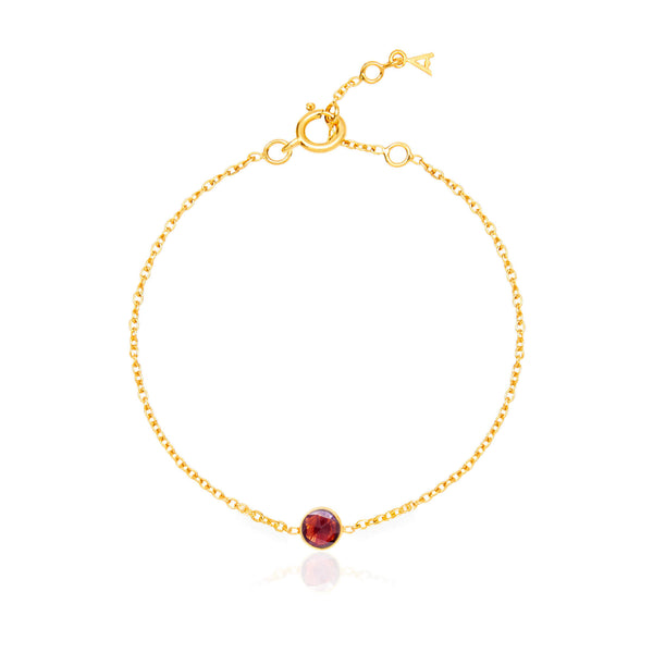 Garnet January Birthstone Bracelet - Auren Jewellery