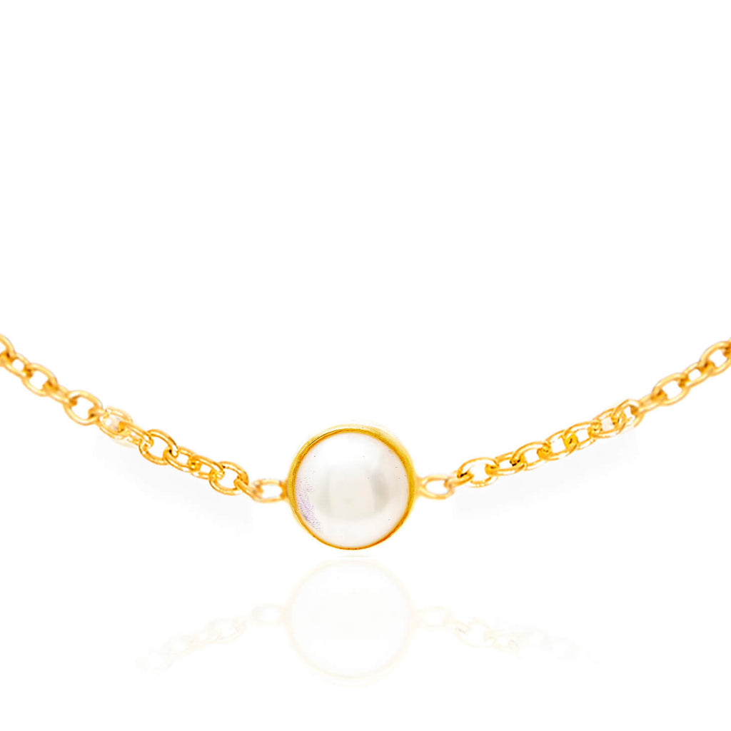 Pearl June Birthstone Bracelet - Auren Jewellery