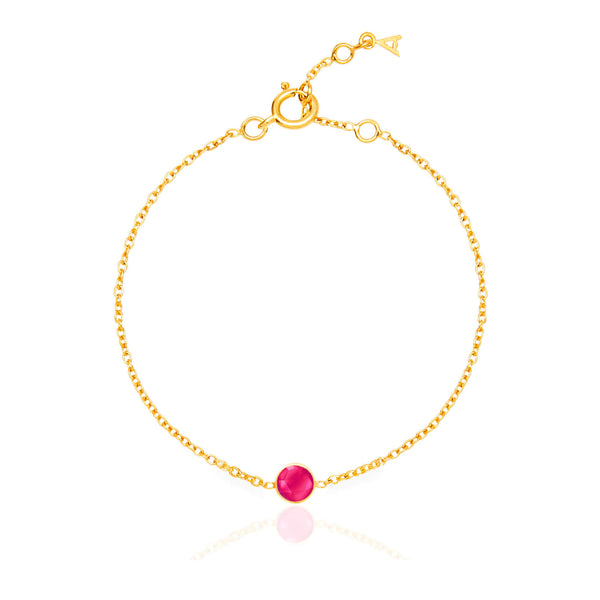 Ruby Quartz July Birthstone Bracelet - Auren Jewellery