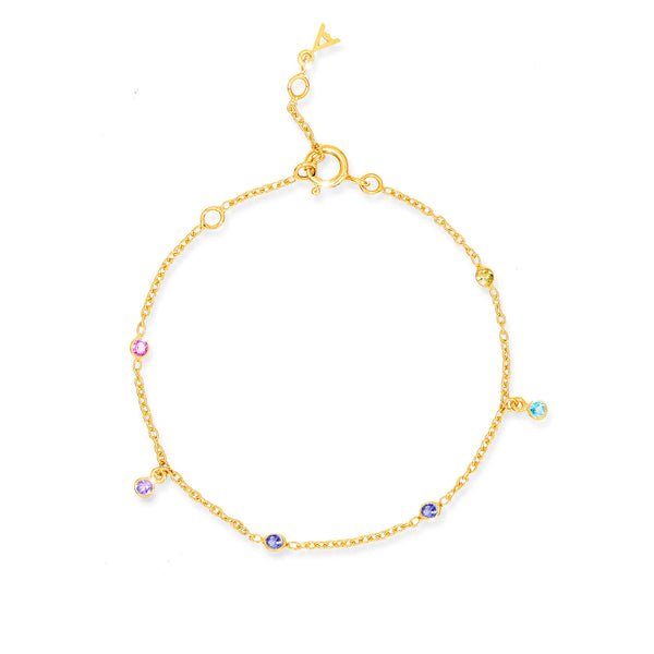 Paradigm Gemstone Studded Bracelet - Auren Jewellery