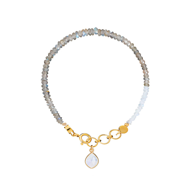 Labradorite & Moonstone Friendship Bracelet - Auren Jewellery