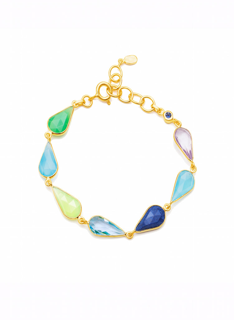 Multicoloured Gemstone Bracelet