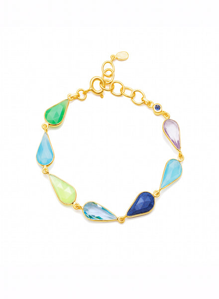 Multicoloured Gemstone Bracelet - Auren Jewellery