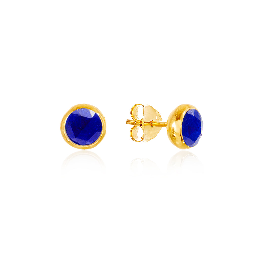 Lapis Lazuli September Birthstone Stud Earrings