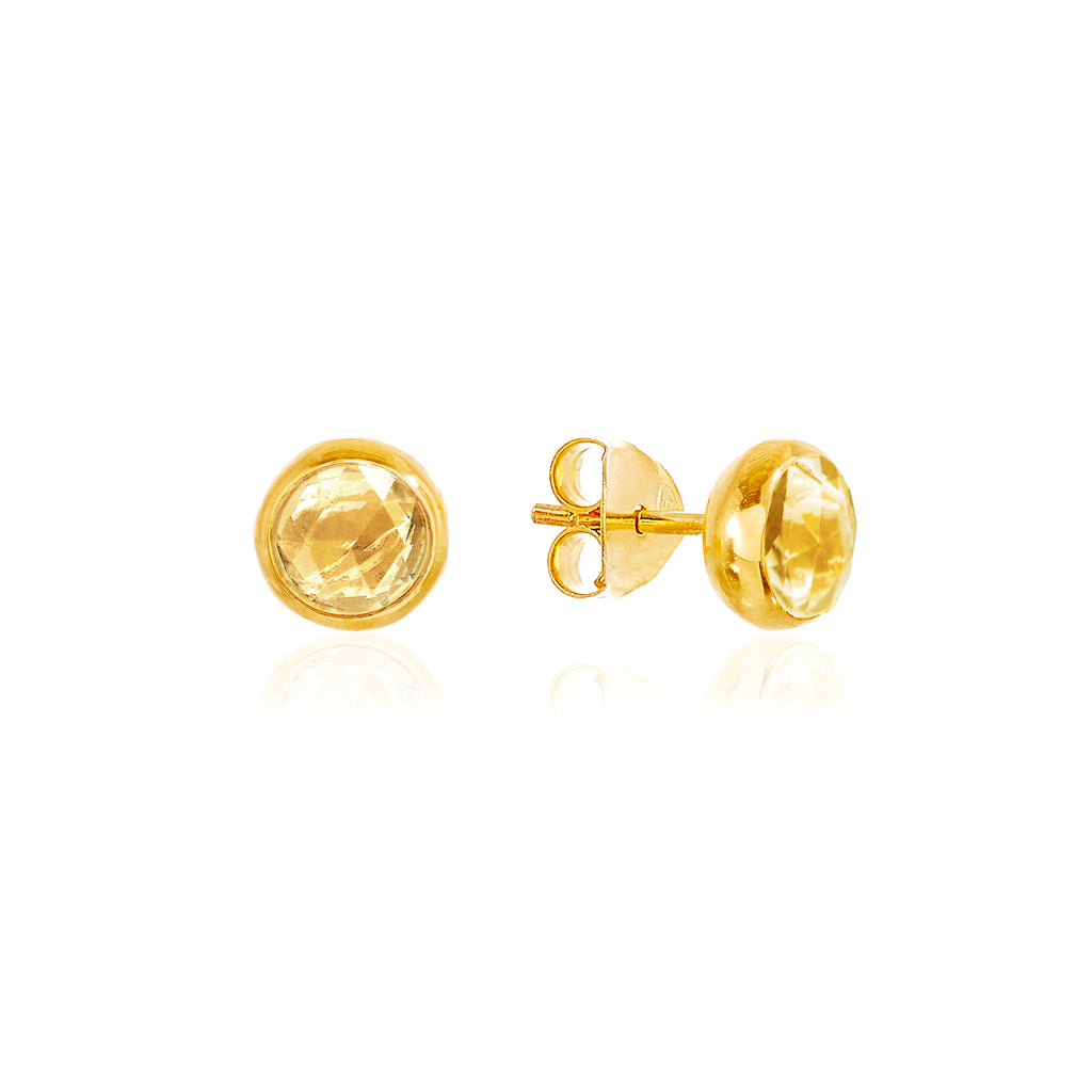 Citrine November Birthstone Stud Earrings