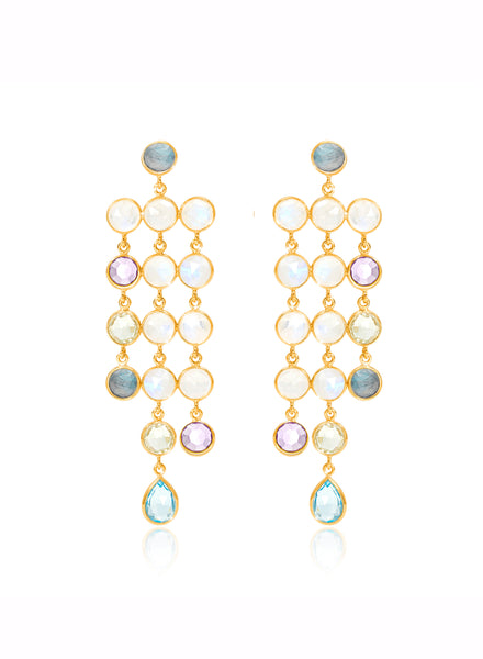 Gemstone Cascade Earrings - Auren Jewellery