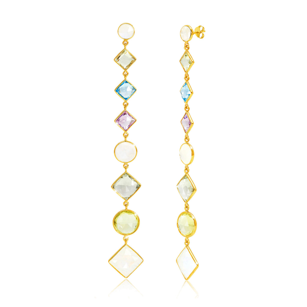 Paradigm Multistone Cascade Earrings