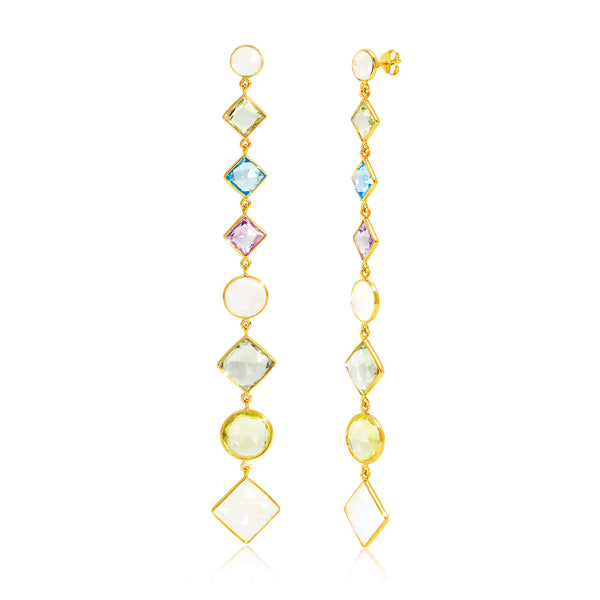 Paradigm Multistone Cascade Earrings - Auren Jewellery