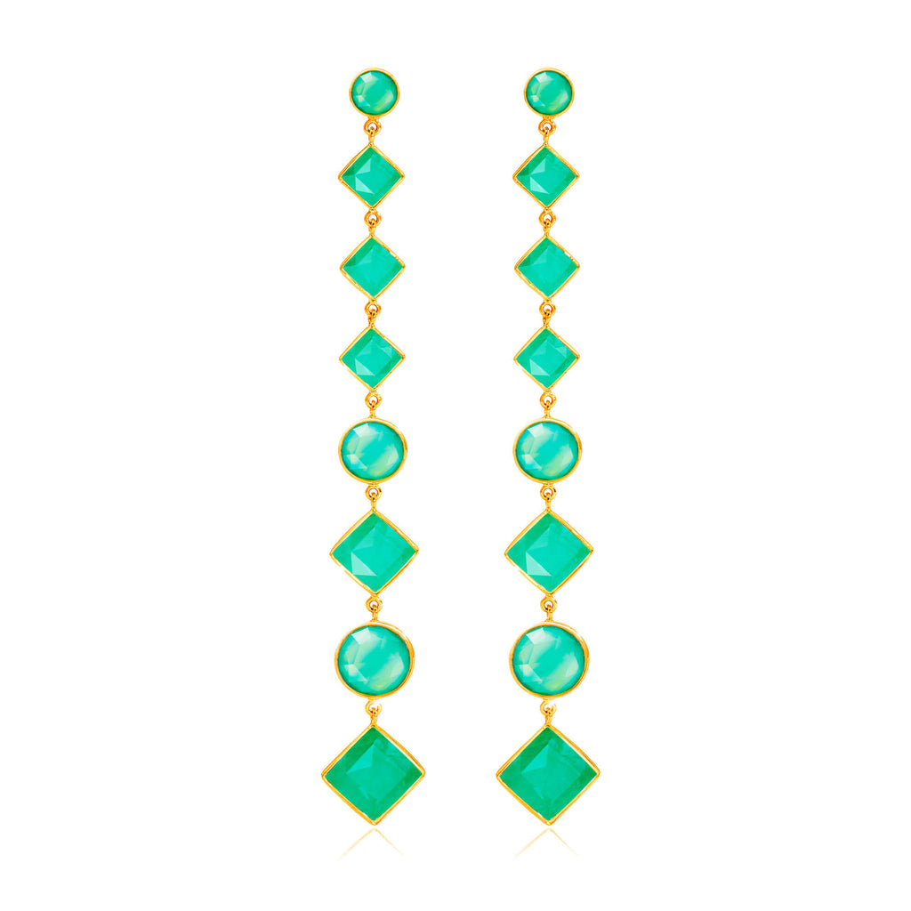 Paradigm Chrysoprase Cascade Earrings - Auren Jewellery