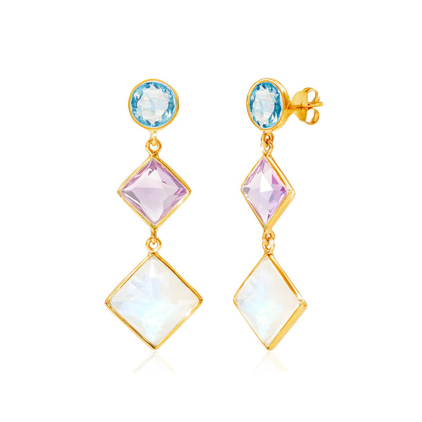 Kaleidoscope Multicolour Gem Earrings - Auren Jewellery
