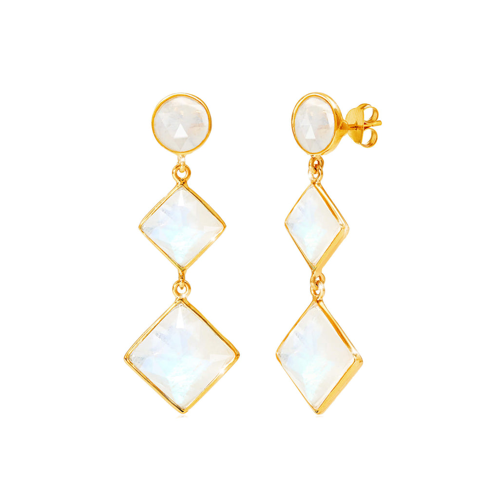 Kaleidoscope Moonstone Earrings