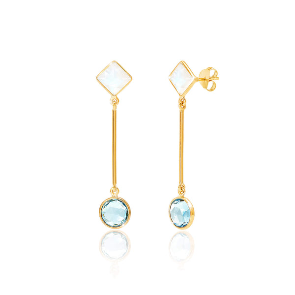 Axiom Gemstone Bar Earrings - Auren Jewellery