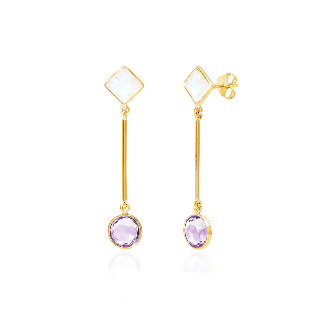 Axiom Gemstone Bar Earrings