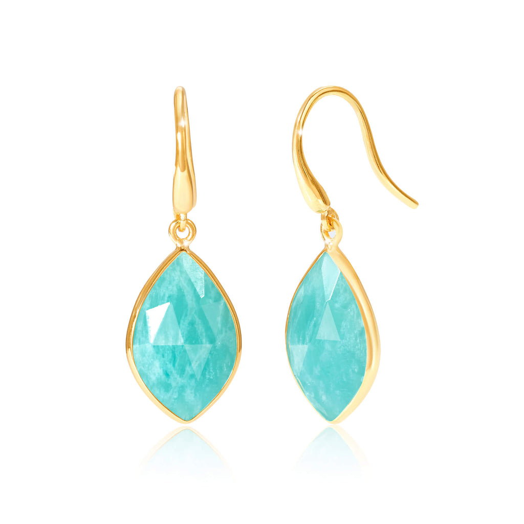 Electric Skies Amazonite Drop Earrings - Auren Jewellery