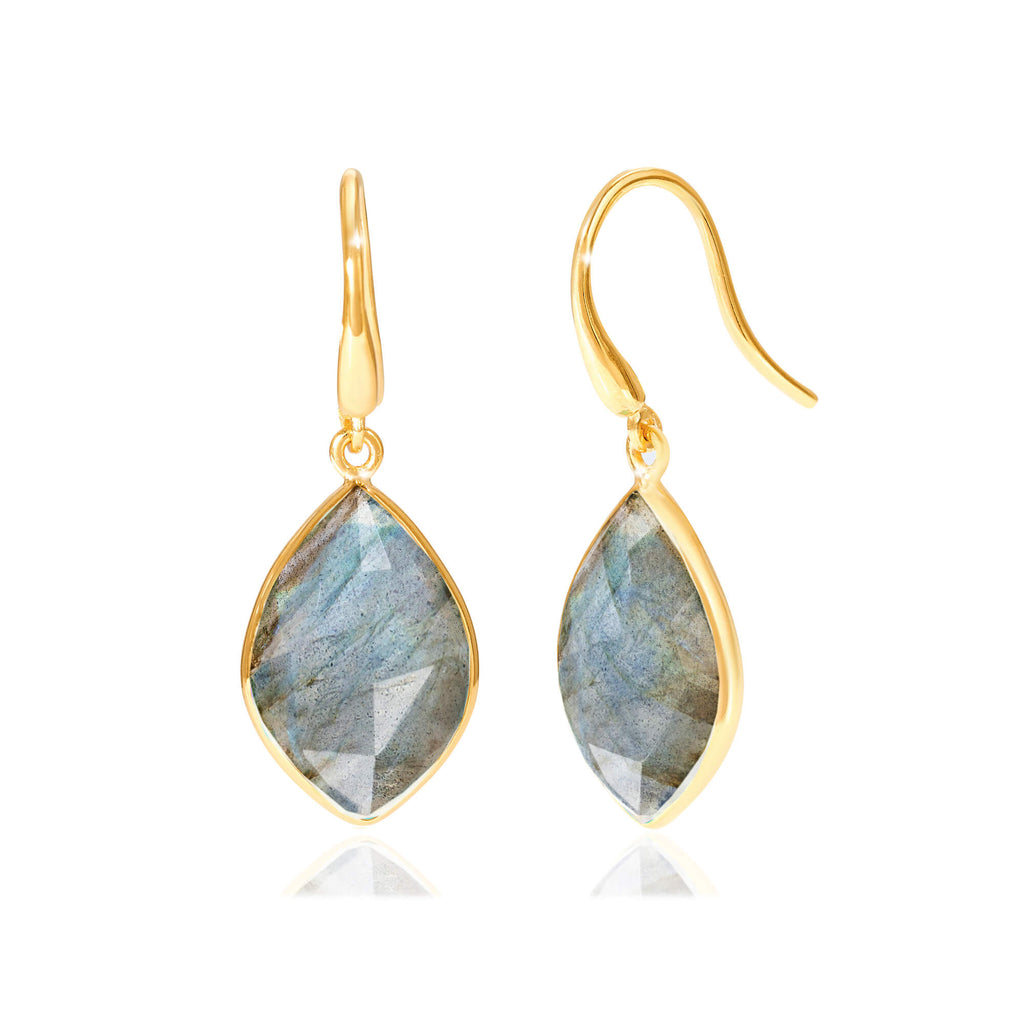 Electric Skies Labradorite Drop Earrings